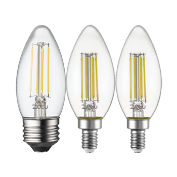 LED Classic Filament Lamps E26, E14, E12